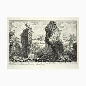 Veduta degli Avanzi sopra terra dell'antico Ustrino - Radierung von GB Piranesi 1756