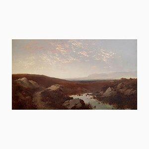 Landscape - Oil on Canvas par Giulio Aristide Sartorio - 1890 ca. 1890 ca.
