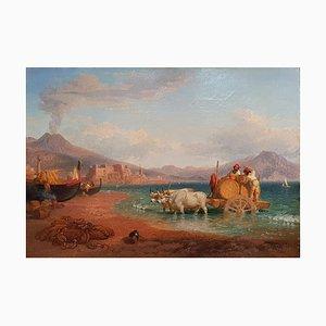 The Wagon of the Coopers im Golf von Neapel mit dem Vesuv im Hintergrund