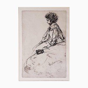 Bibi Lalouette - Original Etching by James Whistler - 1859 1859