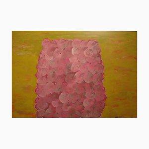 Composition Rose et Jaune - Tempera Original par P. Consagra - 1973 1973