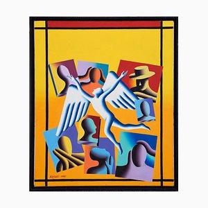 Leasing Annex - Original Öl auf Leinwand von M. Kostabi - 1995 1995