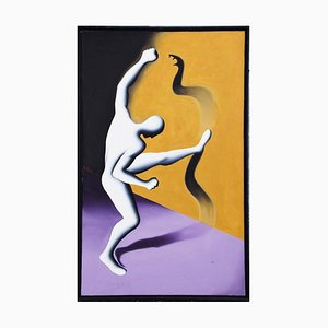 Cobranetics - Original Oil on Canvas by M. Kostabi - 1990 1990
