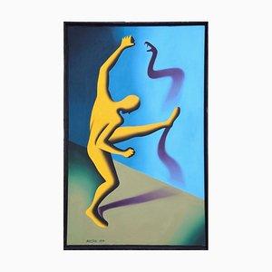 The Enemy Within - Original Öl auf Leinwand von M. Kostabi - 1994 1994