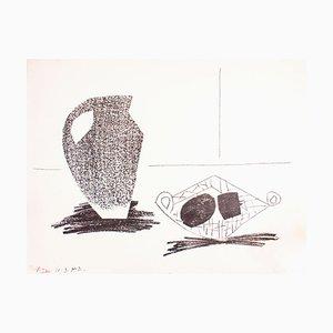 Litografia originale di Pablo Picasso - 1947 1947 Nature Morte au Pot de Grès