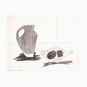 Nature Morte au Pot de Grès - Original Lithograph by Pablo Picasso - 1947 1947