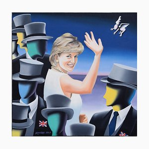 Fare Thee Well And If Forever - Original Oil on Canvas by M. Kostabi - 1997 1997
