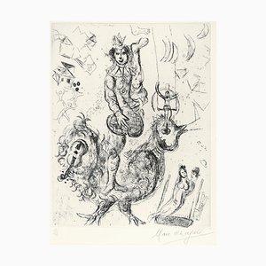 Acrobate Le Clown - Gravure à l'Eau-Forte originale par Marc Chagall - 1967 1967