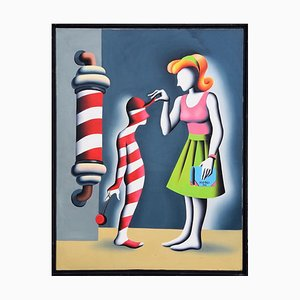 Gnorance s-the Rot of all Evil - Original Oil on Canvas by M. Kostabi - 1991 1991