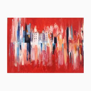 Landscape in Red - Acryl auf Leinwand von M. Goeyens - 2014 2014