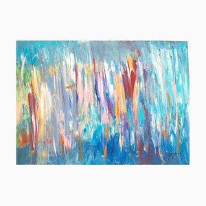 In the Blue - Acrylique sur Contreplaqué par M. Goeyens - 2015 2015