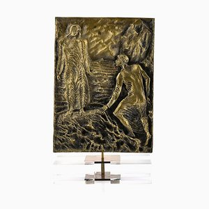 Dante Meets Virgil - Original Skulptur aus Bronze von P. Fazzini - spätes 20. Jahrhundert spätes 20. Jahrhundert