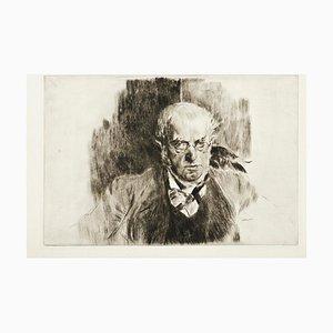 Portrait of Adolph Menzel - Original Etching par Giovanni Boldini - 1897 1897