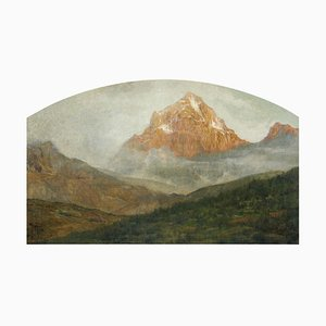 Mountain Landscape - Original Oil on Canvas by G. Giani - 1911 1911