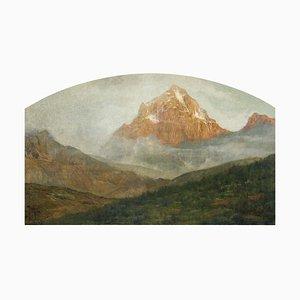 Paysage de Montagne - Huile sur Toile par G. Giani - 1911 1911