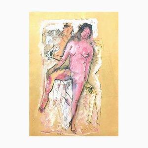 Akt der Frau - Original Mixed Media von Marino Marini - 1930er Jahre