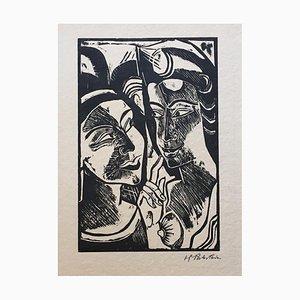 Zwiesprache - Original Woodcut Print by Max Pechstein - 1918 1918
