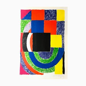 Composition - Original Lithograph by Sonia Delaunay - 1969 1969
