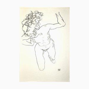 Nu de Femme Nu - Edition Collotype originale d'après Egon Schiele - 1920 1920