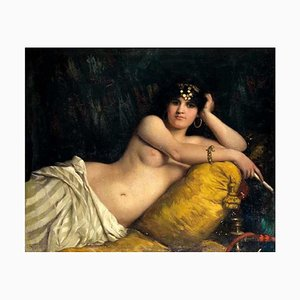 Portrait of Odalisque - Oil on Canvas by Giovanni Costa - 1858 1858
