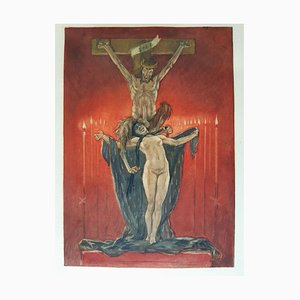 Le Calvaire - Original Etching and Heliogravure by Félicien Rops - 1882 1882