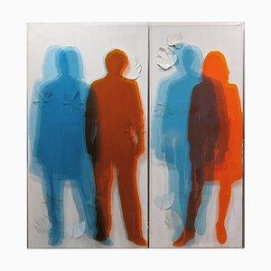 Simultaneous Transparencies - Original Mixed Media par Vincenzo Ceccato - 2011 2011