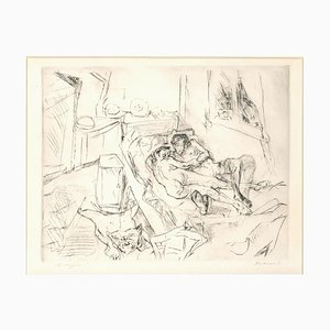 Liebespaar I - Original Etching and Drypoint by Max Beckmann - 1916 1916
