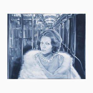 Mata Hari on Orient Express - Oil on Canvas by G. Montesano - 2017/18 2017/18