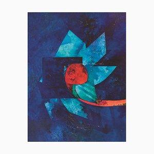Fiore notturno - Olio su tela di Gianni Dova - anni '70