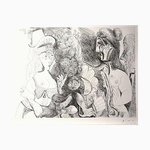 Gravure à l'Eau Forte La Pête de la Patronne par Pablo Picasso 1971 1971