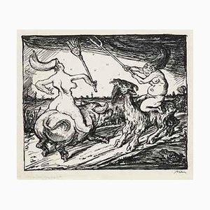 Walpurgis Nacht - Original Drawing by A. Kubin - 1920 1920