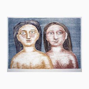 Due Nudi - Original Lithographie von M. Campigli - 1952 1952