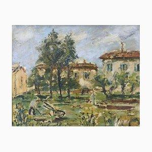 Französische Landschaft - Öl auf Leinwand von F. De Pisis - 1938 1938
