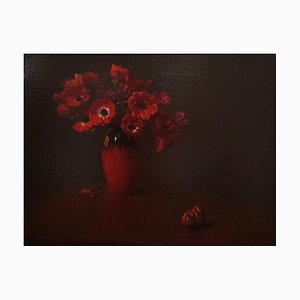Vaso di Anemoni (Anémones Rouges) - 1910s - Arturo Noci - Peinture - Moderne 1912