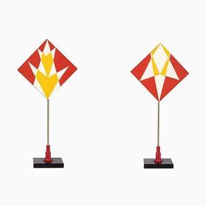 Rote und gelbe Dreiecke - Temperas auf Holz von Giacomo Balla - 1930er Jahre