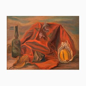 Still Life - Original Oil on Board by G. Canali - 1940 1940