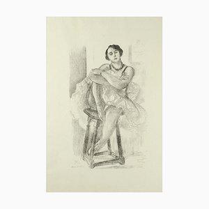 Lithographie originale par Henri Matisse Danseuse sur un Tabouret - 1929 1929