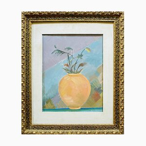 Amphora with Flowers - Original Oil on Canvas by R. Melli - 1945 1945
