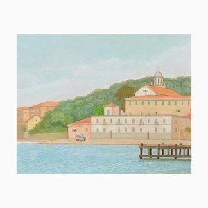 Le Golfe de La Spezia - Huile sur Toile par A. Donghi - 1946 1946