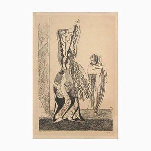 Lithographie Danseuses - Original par Max Ernst - 1950 1950