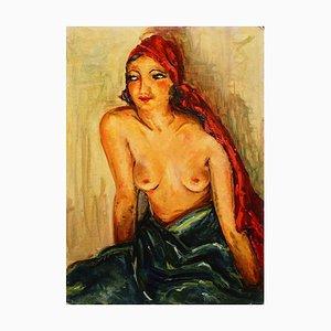 Portrait of Woman - Öl auf Holz von Antonio Feltrinelli - 1930er Jahre