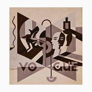 Vogue - Original Ink and Tempera by Fortunato Depero - 1929 ca. 1929 ca.