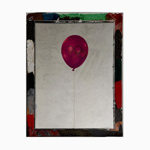 Olympic Balloons - Original Siebdruck auf Aluminium von M. Pistoletto - 1984 1984