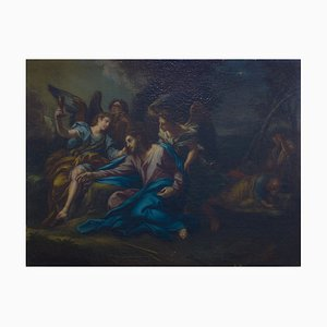 Jesus Christ in the Gethsemane - Oil on Canvas by Cercle of C. Maratta Early 18th Century