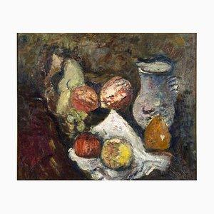 Bodegón con frutas. Óleo sobre lienzo original de Arturo Tosi - 1941 1941