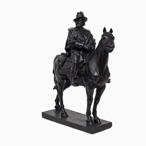 Garibaldi Riding a Horse - Original Bronze Sculpture by Carlo Rivalta Early 1900