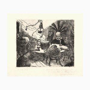 Le Roi Peste (The Plague Kings) - Original Etching by James Ensor - 1895 1895