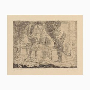 Assassinat - Original Etching by James Ensor - 1888 1888