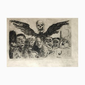 The Deadly Sins - Original Etching by James Ensor - 1904 1904