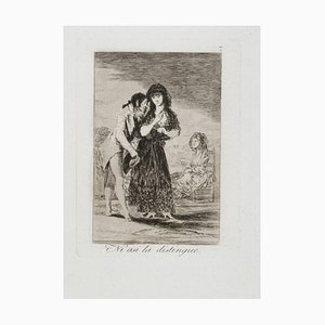 Ni asi la Distingue - Original Etching by Francisco Goya - 1799 1799